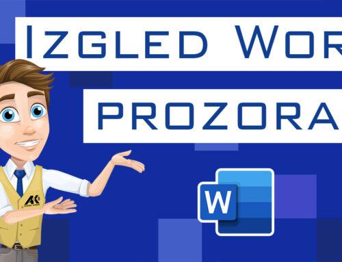 Izgled Word prozora