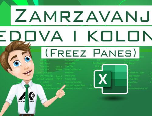 Zamrzavanje redova i kolona (Freez Panes)