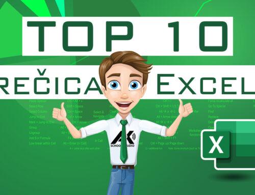 TOP 10 prečica u Excel-u