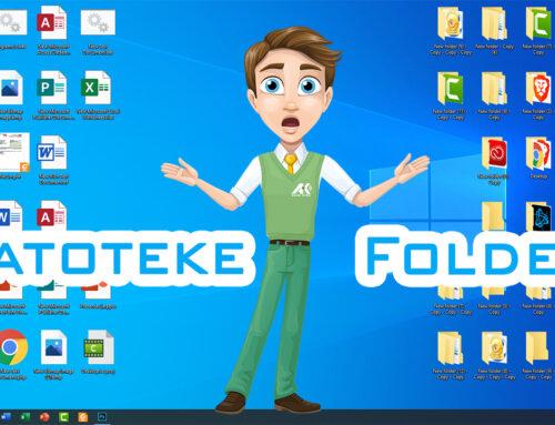 Upravljanje folderima i datotekama
